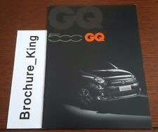 New Fiat 500 GQ Range June 2013 1.2 0.9 TwinAir Turbo 1.3 Multijet Brochure