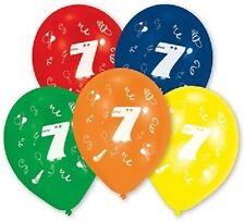 Luftballon rund Zahl 7 bunt