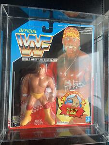 WWF WWE Hasbro MOC Hulk Hogan 1992 Series 5 Wrestling Figure With Acrylic Case