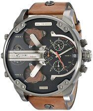 Diesel Mr. Daddy 2.0 Black Dial Chronograph Quartz Men's Watch - 4 Time  DZ7332