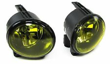 YELLOW FOG LIGHTS & FITTING BRACKETS BMW X5 E53 2003-2006 FACELIFT MODEL MPV44