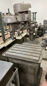 "Vintage Walker-Turner Radial Arm Drill Press 21"" Throat 26"" X 18"" Table"