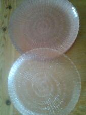lot de 10 assiettes en verres roses vintages