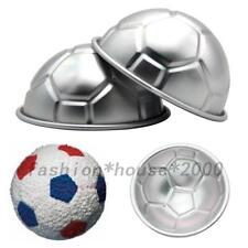 3D Fußball Kuchenform Aluminiumlegierung 2er Halbkugel Backform Tortendekoration