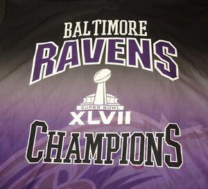 Baltimore Ravens Super Bowl XLVII Champions NFL Team Apparel Klew Hoody 2XL NWT