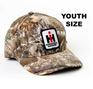 International Harvester Logo Patch RealTree Camo Youth Hat