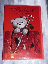 VALENTINE CARD HUSBAND  CUTE MALE  PARTNER INSERTED VALENTINES DAY HEART BEAR