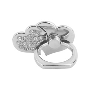 Phone Holder Ring Stand Mount Double Heart 360 Rotating