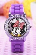 Purple Minnie Mouse Quartz Cartoon Child kids Watch