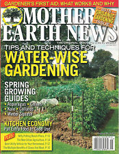 Mother Earth News ORGANIC GARDENING Water Wise Spring Garden Growing Guide Urban