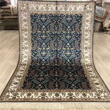 YILONG 4'x6' Hand Knotted Silk Carpets Antique Home Decor Area Rugs 044B