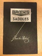 Vintage Bicycle  - Brooks Saddle Catalogue - 1935 -
