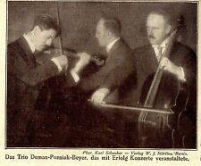 Das Trio Deman-Pozniak-Beyer Historische Aufnahme 1921