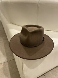 Akubra Hat - Cattleman - Brown - Size 61 cm