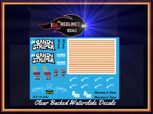 """1/25 Scale '55 Chevy """"Candy Striper"""" Gasser ORANGE Replica Decal SCR-125-0082"""