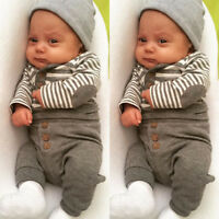 AU Newborn Baby Girls Boy Top T-shirt Shirt Long Pants Clothes Outfits Set