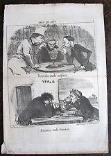DAUMIER, LITHOGRAPHIE ORIGINALE,PARIS QUI BOIT 7