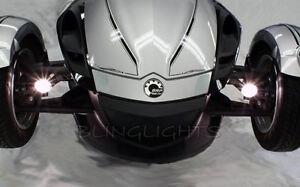Can-Am Spyder Roadster Trike Blue LED Fog Lamps Driving Light Drivinglights