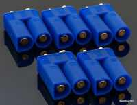 5 Pack: EC5 Male / 5MM Bullet Connectors Pre-Installed in Plastic Housing