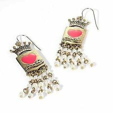 Princess Vera Wang Crown Faux Pearl Dangle Earrings