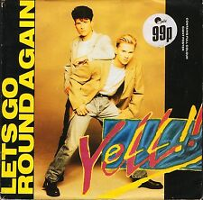 """YELL let's go round again/ain't no doubt about FAN PIC 30 poster bag 7"""" PS EX/EX"""