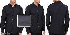NWT $225 Theory Slim Fit Mini Gingham Check Sport Shirt Size S
