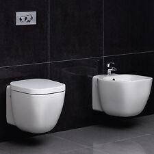 Sanitari sospesi design moderno nuove tendenze arredobagno wc con sedile e bidet