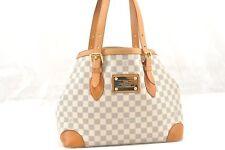 Auth Louis Vuitton Damier Azur Hampstead MM Shoulder Tote Bag N51206 LV 57929