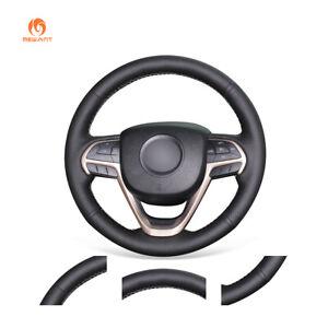 MEWANT Black PU Leather Steering Wheel Cover for JeepCherokee GrandCherokee