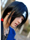 New Fashion For Cosplay Itachi Long Straight Black Stiled Party Wig  free gift