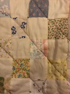 """NEW 22""""x16"""" Handmade Baby Quilt Moses Basket Floral Reversible Alphabet Doll"""