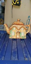 Vintage unusual Teapot cottage Hand painted Beautiful Interesting Farmhouse