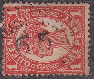 QLD numeral cancellation 65 of KYOOMBA [rated 2R] Type 1d, 5.5mm