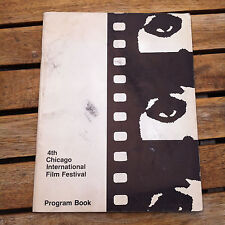 4th Chicago International Film Festival Program Book 1968 Ultra Rare