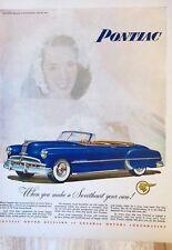 Original 1949 Print Ad PONTIAC When You Make Sweetheart Your Own Convertible
