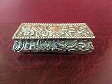 Victorian English Solid Silver trinket box - Fully Hallmarked