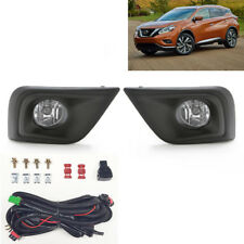 For 2015-2017 Nissan Murano Clear Lens Fog Lights Assembly w/Bezel Switch Bulbs