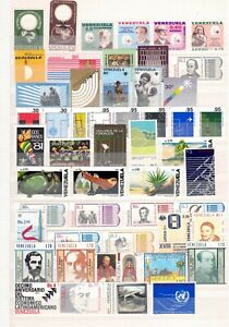 VENEZUELA, Collection of stamps and sheets on 8 scans, cat.val = 810.00€, MNH!