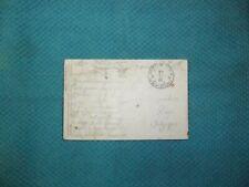 Carte postale oblitérée par postes militaires Belgique en 1922 état voir photos