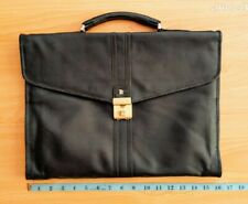 Vintage Bally Black Business Briefcase Messenger Bag Unisex