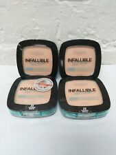 Lot of 4 L'oreal Infallible Pro-Glow Powder 23 Nude Beige Longwear 20