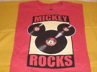 Disney MICKEY MOUSE Vinyl Record Album Face & Ears Design T-Shirt New! NWT SMALL