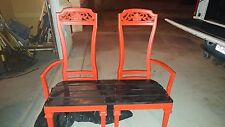 Refurbished bench. Made from dining room chairs. See before and after pictures.