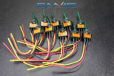10 PCS ILLUMINATED ON OFF TOGGLE SWITCH GREEN PRE WIRED 12 VOLT 20 AMP IBITSG