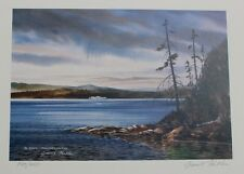 Grant Fuller Hand Signed Numbered Limited Edition En Route, Vancouver Isle 1990