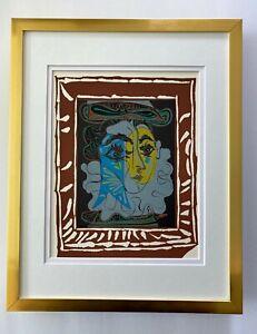 PABLO PICASSO + 1955 + SUPERB LINOCUT MATTED 11 X 14 + LIST $895