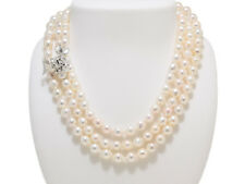 White Akoya  Baroque Pearl 7.5mmX8.0mm Fashion Necklace Long 120cm/47.24inches