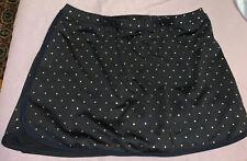Tail Tech Women's BLACK Tennis Skirt Built in Shorts Golf Nylon Skorts Size Med