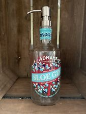 Adnams Sloe Gin Bottle Upcycled soap dispenser With Stainless Steel Pump