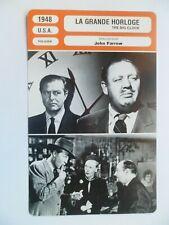 CARTE FICHE CINEMA 1948 LA GRANDE HORLOGE Ray Milland Charles Laughton Maureen O